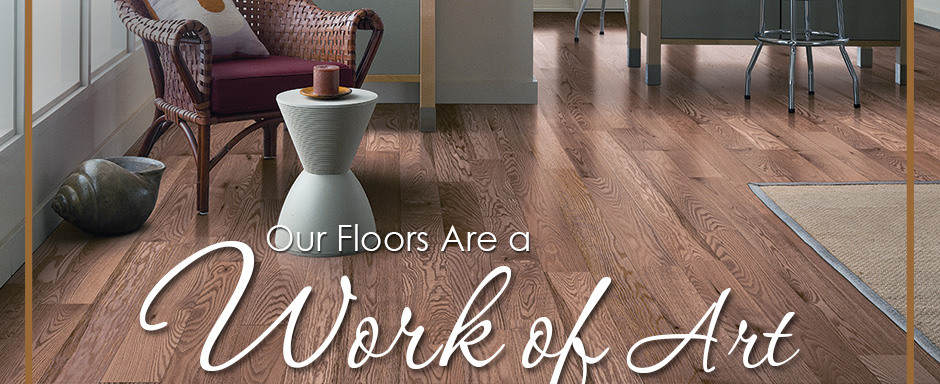 Our Floors Are a Work of Art. Bruce Hardwood Floors, The Natural Choice.