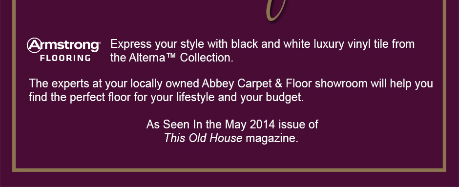 Express your style with black and white luxury vinyl tile from the Alterna™ Collection.